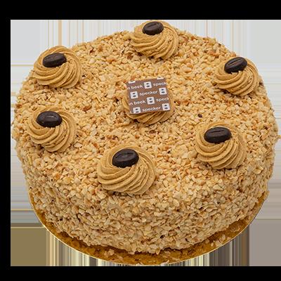 Hazelnoot mokka crème taart