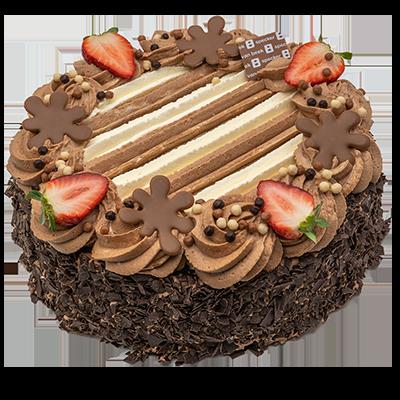 Chocolade-slagroom taart